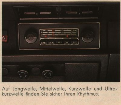 Brochures & Articles - 1303 period Radio - The VW Beetle Gallery